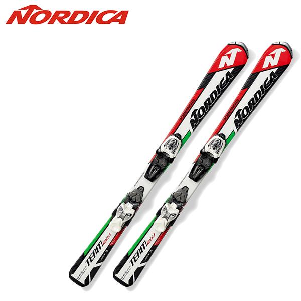 SALE/セール【送料無料】ノルディカnordica ジュニア スキー板 ビンディング付き TEAM J RACE+MARKER M4.5 FASTRAK