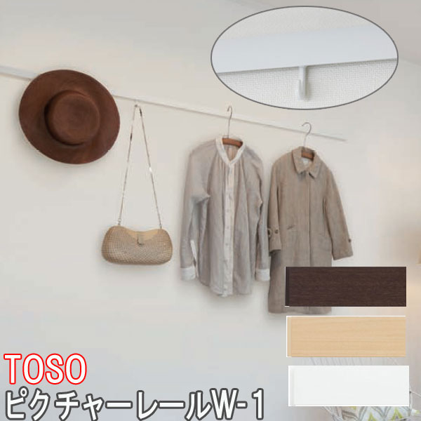 TOSO/トーソー製 ピクチャーレール/W-1 サイズオーダー/正面付け/カラー:ホワイト/251~272cm