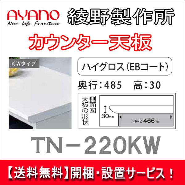 【開梱・設置無料】【送料無料】綾野製作所 カウンター天板 TN-220KW