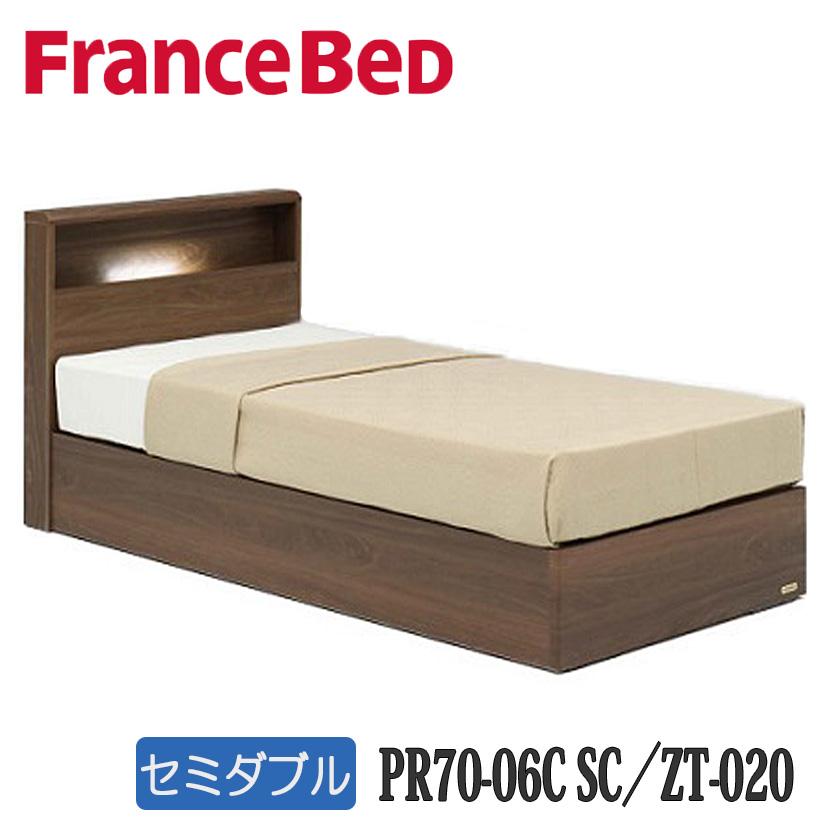 【お買得セット特価】フランスベッドPR70-06CSC+ZT-020  セミダブルベッド フレーム(引出無)+マットレス 送料無料 日本製国産