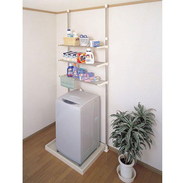 ランドリーラック つっぱり式 洗濯機ラック ◆送料無料◆ DTSR-60 洗濯物収納 洗剤収納 【smtb-TK】【送料無料】