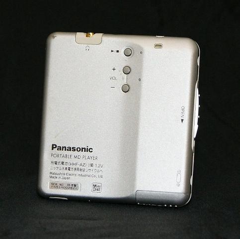 【中古】 【@YA管理1-53R-FS5IA002821】 シルバー 迅速発送+送料無料! <ジャンク品> 部品取り用に ポータブルMDプレーヤー Panasonic (再生専用機) SJ-MJ100-S パナソニック 1点のみ早い者勝ち ! 本体のみ