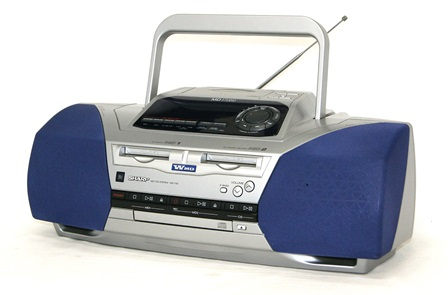 """""""Translation is: double SHARP sharp MD-F20-S Silver MD/CD system MD powered (CD/MD deck) (boombox shape types) MDLP non-compliant remote control missing"""