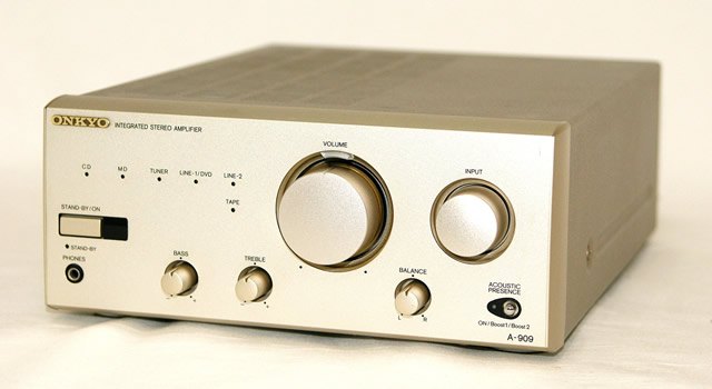 ONKYO Onkyo (Onkyo) A-909 integrated stereo amplifier unit components