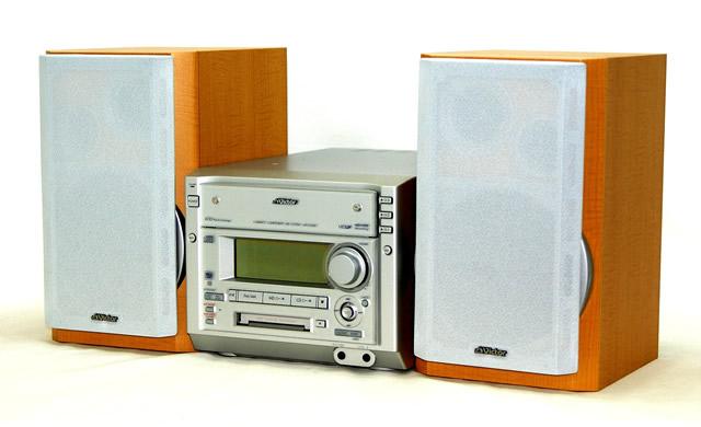 신속 발송+!가격인하 교섭 환영! 1점만 선착순<전시품 레벨의 초미품> Victor 빅터 JVC MX-S55MD 콤팩트 컴퍼넌트 MD시스템(본체 CA-MXS55MD와 스피커 SP-MXS55MD세트) 3 CD체인저 탑재 MDLP 대응