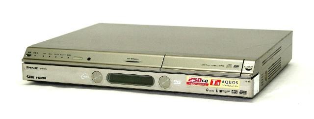 【中古】迅速発送+送料無料!値引交渉歓迎!≪ジャンク品≫ SHARP シャープ DV-ARW12 AQUOS 地上・BS・110度CSデジタルハイビジョンチューナー内蔵DVDレコーダー HDD:250GB 本体のみ【@YA管理1-8R-1125234】