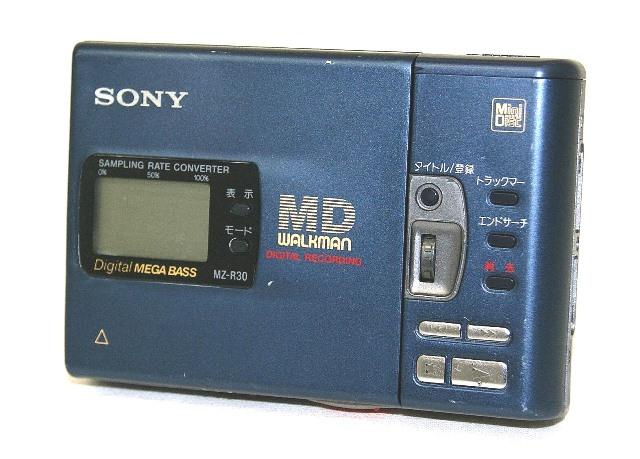 【中古】迅速発送+送料無料+動作保証!値引交渉歓迎! SONY ソニー MZ-R30-L ブルー ポータブルMDレコーダー(録再兼用機/MDウォークマン)【@YA管理1-53-X530693】