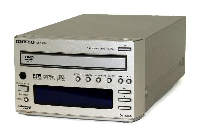 【中古】迅速発送+送料無料+動作保証!値引交渉歓迎! ONKYO オンキヨー(オンキョー) DV-S155 DVDプレーヤー 単体コンポ【@YA管理1-53-52Z0127888A】