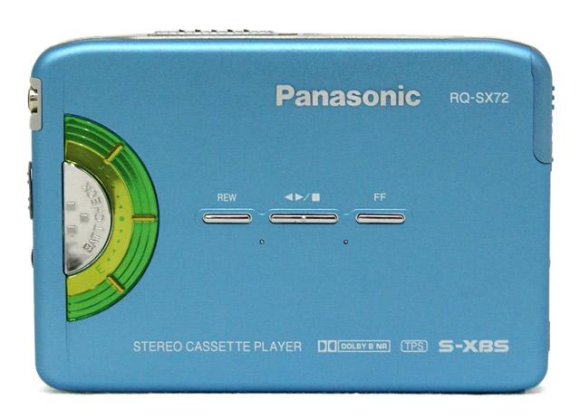 【中古】迅速発送+送料無料+動作保証!値引交渉歓迎! Panasonic パナソニック RQ-SX72-A ブルー ステレオカセットプレイヤー 汎用充電池(未使用品) 1本おまけ【@YA管理1-53-BBJIA28867】