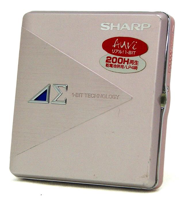 【中古】迅速発送+送料無料+動作保証!! SHARP シャープ MD-DS5-P ピンク モバイル1ビットデジタルアンプ搭載 ポータブルMDプレーヤー(MD再生専用機)MDLP対応 リモコン欠品 汎用充電池(未使用品) 1本おまけ【@YA管理1-53-30101714】