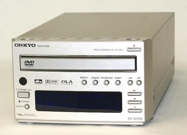【中古】迅速発送+送料無料+動作保証!値引交渉歓迎! ONKYO オンキヨー(オンキョー) DV-S155X(S) DVDプレーヤー(DVDデッキ) インテック155シリーズ【@YA管理1-53-1530913937A】
