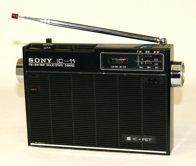 【中古】迅速発送+送料無料+動作保証!! SONY ソニー ICF-110B IC-11 ソリッドステート3バンドラジオ FM/MW/SW【@YA管理1-53-Rust】