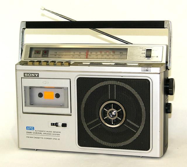 【中古】迅速発送+送料無料!! 《訳あり(一部保証対象外)》 SONY ソニー CFM-32 FM/AMカセットコーダー (モノラル)【@YA管理1-53-Lima】