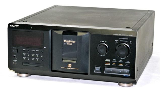 【中古】迅速発送+送料無料+動作保証!! SONY ソニー CDP-CX350 チェンジャー方式CDプレイヤー 300枚【@YA管理1-53-2200575】