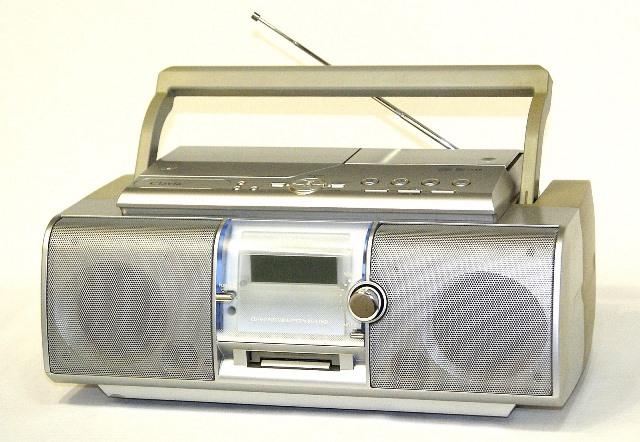【中古】迅速発送+送料無料+動作保証!! Victor ビクター JVC RC-L1MD-S シルバー Clavia CD/MDポータブルシステム(ラジカセ形状)【@YA管理1-53-140C1362】