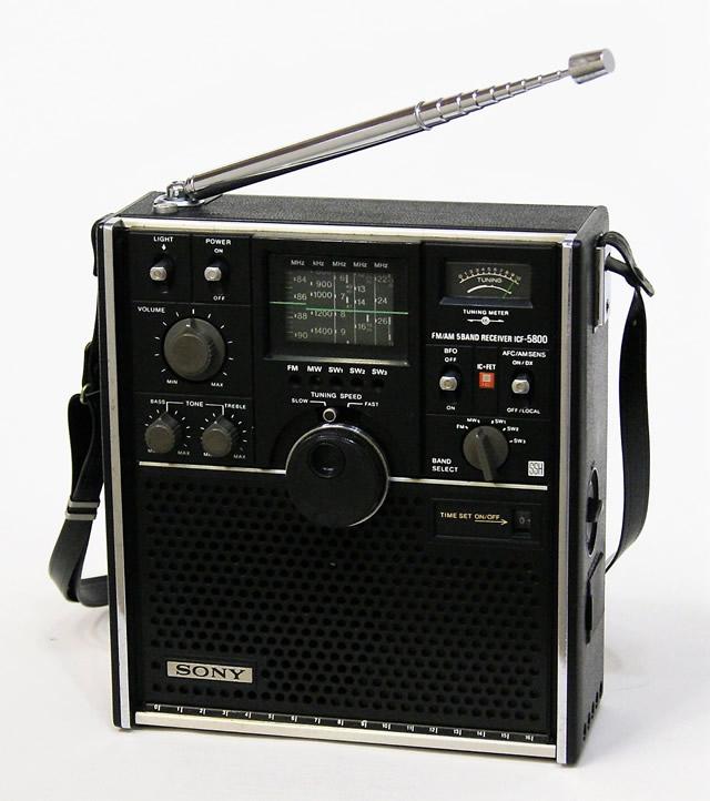 【中古】迅速発送+送料無料+動作保証!! SONY ソニー ICF-5800 スカイセンサー 5バンドマルチバンドレシーバー FM/MW/SW1/SW2/SW3(FM/中波/短波)BCLラジオ【@YA管理1-53-318630】