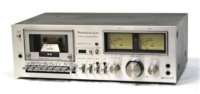 【中古】迅速発送+送料無料+動作保証!! Technics テクニクス RS-M40-S シルバー ステレオカセットデッキ DOLBY NR-B搭載【@YA管理1-53-R1708351】
