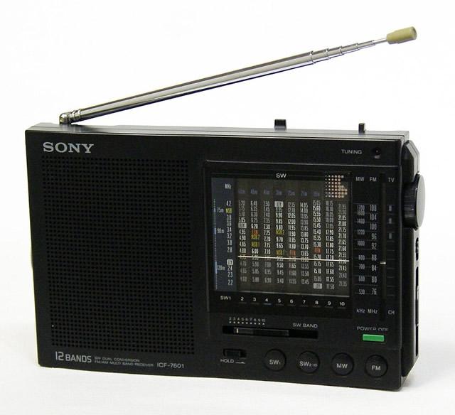 【中古】迅速発送+送料無料+動作保証!値引交渉歓迎! SONY ソニー ICF-7601 高性能ポータブル受信機(FM/MW/SW10バンド)【@YA管理1-53-83389】