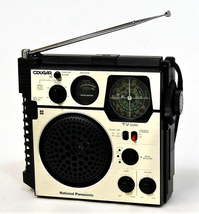 【中古】迅速発送+送料無料+動作保証!! National Panasonic ナショナル パナソニック 松下電器産業 RF-1120 クーガ112 3バンドポータブルラジオ(FM/MW/TV)【@YA管理1-53-5E2667A48895】