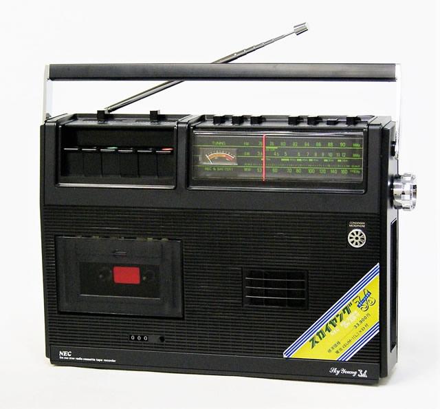 【中古】迅速発送+送料無料+動作保証!! 《展示品以上の超美品・付属品欠品なし》 NEC 新日本電気 RM-236RW FM/SW/MW 3バンドラジオカセットテープレコーダー【@YA管理1-53R-4460239】