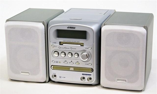 【中古】迅速発送+送料無料+動作保証!値引交渉歓迎! Victor ビクター JVC UX-KX1-H シルバー マイクロコンポーネントMDシステム(CD/MD/カセット/ラジオコンポ)(本体CA-UXKX1-HとスピーカーSP-UXKX1-Hのセット)【@YA管理1-53-123C0620】