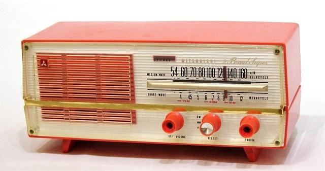 【中古】迅速発送+送料無料+動作保証!! 三菱 MITSUBISHI 5P-468 真空管ラジオ MW/SW(中波/短波ラジオ)【@YA管理1-53-3105134】