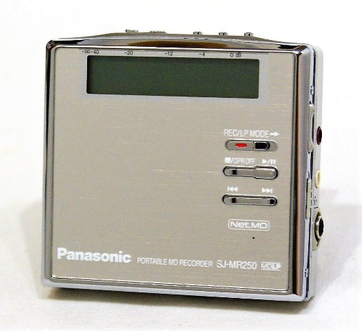 【中古】迅速発送+送料無料+動作保証!! Panasonic パナソニック SJ-MR250-S シルバ- ポータブルMDレコーダー(MD録音再生兼用機) MDLP対応【@YA管理1-53-FE2GA007628】