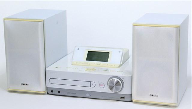 【中古】迅速発送+送料無料+動作保証!! SONY ソニー CMT-E300HD(W) ホワイト HDDコンポ(HDD/CD/AM/FMラジオコンポ) スピーカー違い(本体HCD-E300HDとスピーカーSS-D55HDのセット) HDD:80GB リモコン代替品 ソフトウェアCD-ROM欠品【@YA管理1-53-Rover】