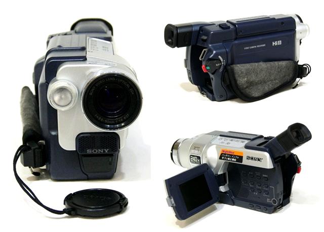 迅速発送++動作保証!! SONY ソニー CCD-TRV106K Hi8ビデオカメラ(ハイエイトハンディカム) ナイトショット【@YA管理1-53-32077】