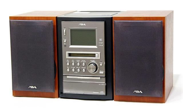 【中古】迅速発送+送料無料+動作保証!! AIWA アイワ (SONY ソニー) XR-MJ1 ブラック マイクロハイファイコンポーネントシステム (CD/MDコンポ) (本体CX-LMJ1とスピーカーSX-LMJ2のセット)【@YA管理1-53-2710133】