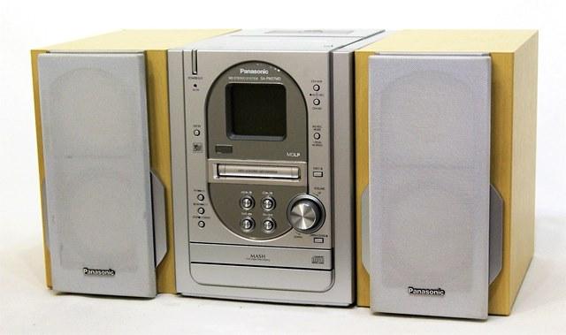 【中古】迅速発送+送料無料+動作保証!! Panasonic パナソニック SC-PM27MD-S シルバー ミニコンポ(CD/MDコンポ)(本体SA-PM27MDとスピーカーSB-PM27のセット)【@YA管理1-53R-GT2HA003564】