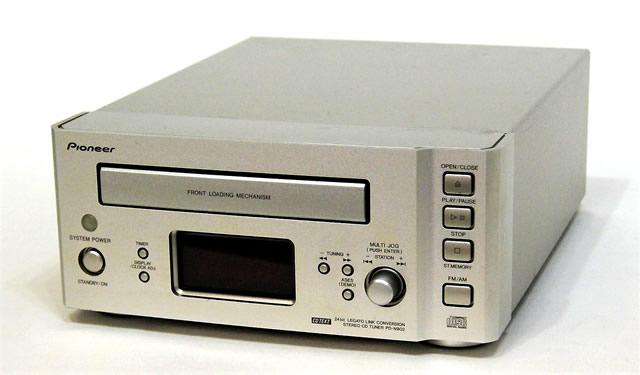 【中古】迅速発送+送料無料+動作保証!! PIONEER パイオニア PD-N902-S ステレオCDチューナー (CDプレイヤー/FM/AMラジオチューナー) 「FILL」シリーズ APX-N902 バラ売り おまけリモコン【@YA管理1-53-UJUU009814JP】
