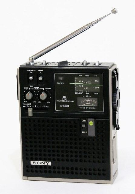 【中古】迅速発送+送料無料+動作保証!値引交渉歓迎! SONY ソニー ICF-5500 スカイセンサー 3バンドレシーバー FM/MW/SW(BCLラジオ)【@YA管理1-53-36278】