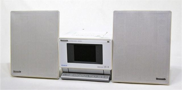 【中古】迅速発送+送料無料+動作保証!値引交渉歓迎! Panasonic パナソニック SC-SX450-W ホワイト SDステレオシステム D-dock (HDD/SD/CD/チューナー一体型コンポ) HDD:80GB (本体SA-SX450とスピーカーSB-SX450のセット)【@YA管理1-53-DF7DH001891R】
