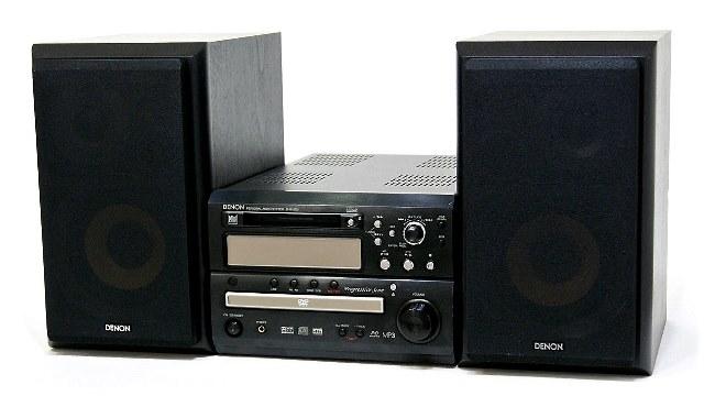 【中古】迅速発送+送料無料+動作保証!値引交渉歓迎! DENON デノン (デンオン) D-MA5DV-K ブラック DVD/MD/CD一体型システムコンポ(本体D-MA5DVとスピーカーUSC-MA5のセット)【@YA管理1-53-3123363257】