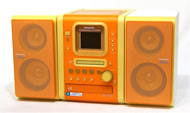 【中古】迅速発送+送料無料+動作保証!値引交渉歓迎! Panasonic パナソニック SC-PM35MD-D オレンジ MDステレオシステム(CD/MD/カセット/チューナーコンポ)(センターユニットSA-PM35MDとスピーカーSB-PM35のセット)【@YA管理1-53R-GN0JA09396】
