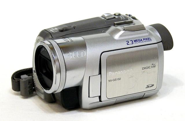 【中古】迅速発送+送料無料+動作保証!! Panasonic パナソニック NV-GS150-S シルバー デジタルビデオカメラ ミニDVカセット カラーナイトビュー搭載【@YA管理1-53-VX5210469】