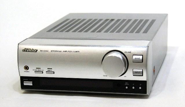 中古 迅速発送+送料無料 動作保証 Victor 価格 ビクター JVC @YA管理1-53-09410733 FM レシーバー おまけリモコン AMチューナー内蔵アンプ お洒落 RX-EX50