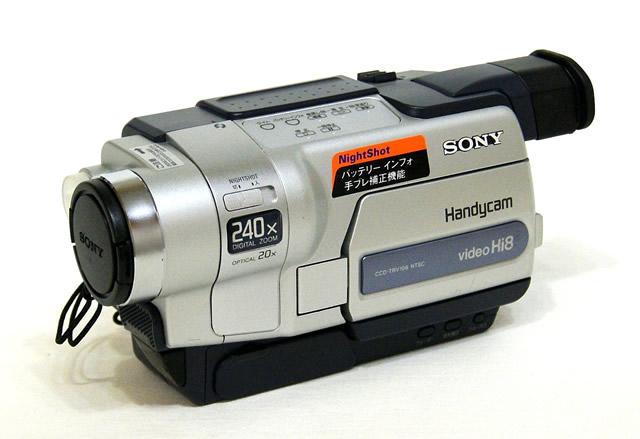 【中古】迅速発送+送料無料+動作保証!! SONY ソニー CCD-TRV106K Hi8ビデオカメラ(ハイエイトハンディカム) ナイトショット【@YA管理1-53-23954】