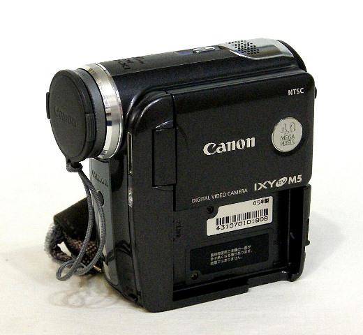 【中古】迅速発送+送料無料+動作保証!! Canon キャノン DM-IXYDVM5B ノーブルブラック デジタルビデオカメラ ミニDV リモコン欠品【@YA管理1-53-431070101808】