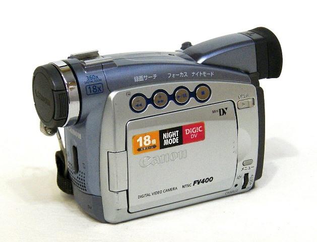 【中古】迅速発送+送料無料+動作保証!! Canon キャノン DM-FV400 デジタルビデオカメラ ミニDV【@YA管理1-53-251816122687】
