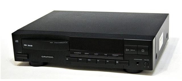 【中古】迅速発送+送料無料+動作保証!! GRUNDIG グルンディッヒ CD 360 CDプレイヤー リモコン欠品 おまけ電源変換器付 ビンテージ ヴィンテージ レトロ アンティーク【@YA管理1-53-466534】