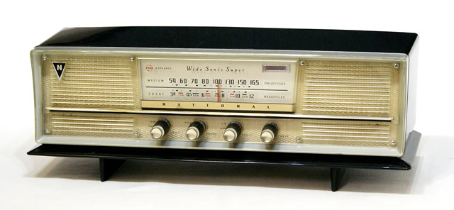 【中古】迅速発送+送料無料!!《訳あり(一部保証対象外)》ナショナル(National 松下電器産業 パナソニック)DX-365 真空管ラジオ 2バンド(MW/SW)5球スーパー ビンテージ ヴィンテージ レトロ アンティーク【@YA管理1-53-Radio2】