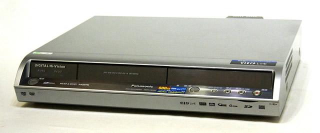 【中古】迅速発送+送料無料+動作保証!!Panasonic パナソニック DMR-EX550-S シルバー HDD内蔵DVDレコーダー(HDD/DVDレコーダー)地デジチューナー搭載 HDD:500GB【@YA管理1-53-KW6DA05563R】