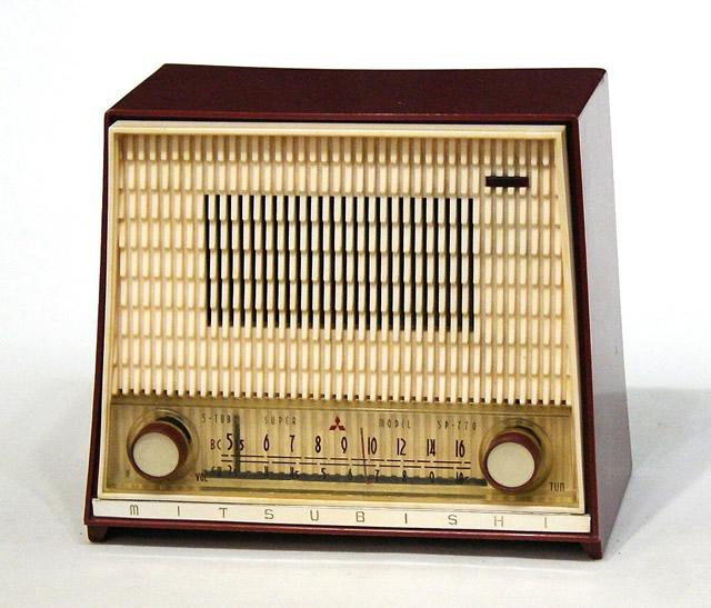 【中古】迅速発送+送料無料+動作保証!! 三菱 MITSUBISHI 5P-770 真空管ラジオ MW/SW(中波/短波ラジオ) ビンテージ ヴィンテージ レトロ アンティーク【@YA管理1-53-Radio6】