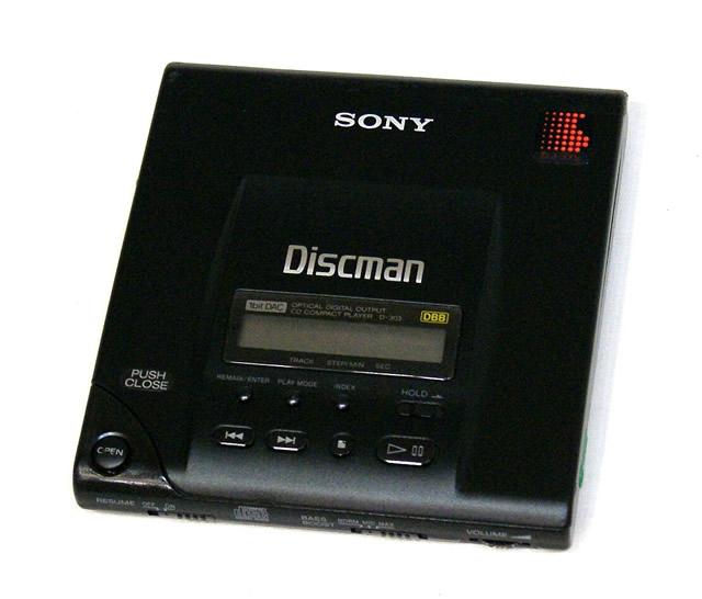 【中古】迅速発送+送料無料+動作保証!! SONY ソニー D-303 ブラック Discman ディスクマン (ポータブルCDプレーヤー) 本体のみ ビンテージ ヴィンテージ レトロ アンティーク【@YA管理1-53-81398】
