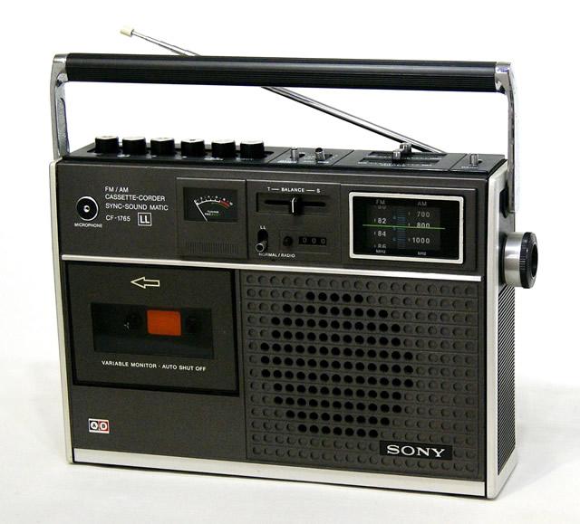 【中古】迅速発送+送料無料+動作保証!! SONY ソニー CF-1765 (LL 1765) FM/AMラジオ, 4トラックLL付カセットコーダー (モノラル) ビンテージ ヴィンテージ レトロ アンティーク【@YA管理1-53-124647】