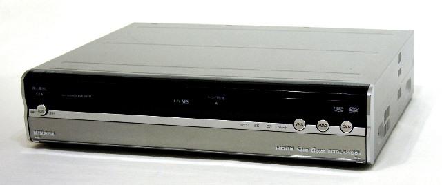 【中古】迅速発送+送料無料+動作保証!! MITSUBISHI 三菱 DVR-DV635 楽レコ 地上・BS・110度CSデジタルハイビジョンチューナー内蔵 ビデオ一体型DVDレコーダー HDD:250GB 専用リモコン付【@YA管理1-53-0010619】