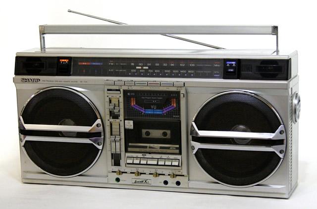 【中古】迅速発送+送料無料+動作保証!! SHARP シャープ GF-535 FM/AM ステレオカセット ザ・サーチャー535 ビンテージ ヴィンテージ レトロ アンティーク【@YA管理1-53-11105592】