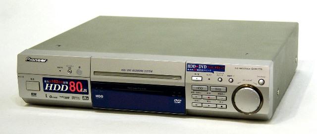 【中古】迅速発送+送料無料!! 《ジャンク品》 PIONEER パイオニア DVR-77H HDD/DVDレコーダー HDD:80GB  本体のみ【@TA管理1-53R-CGPG094270JP】